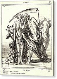 Honoré Daumier French, 1808 - 1879. En Faction Acrylic Print by Litz Collection