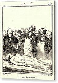 Honoré Daumier French, 1808 - 1879. La Leçon Danatomie Acrylic Print