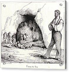 Honoré Daumier French, 1808 - 1879. Lantre Du Lion Acrylic Print