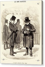 Honoré Daumier French, 1808 - 1879, Le Coup De Canon Du Acrylic Print by Quint Lox