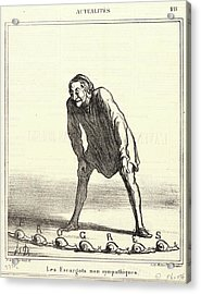 Honoré Daumier French, 1808 - 1879. Les Escargots Non Acrylic Print