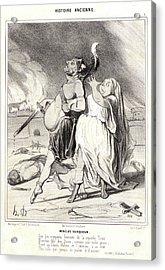 Honoré Daumier French, 1808 - 1879. Menelas Vainqueur Acrylic Print