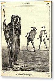 Honoré Daumier French, 1808 - 1879. Ou Venise Commence Acrylic Print