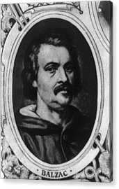 Honor� De Balzac 1799-1850, French Acrylic Print