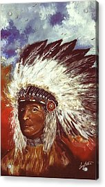 Honorable Chief Acrylic Print