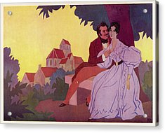 Honore De Balzac With His  Greatest Acrylic Print by Mary Evans Picture Library