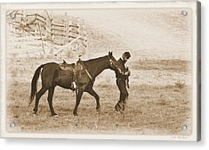 Acrylic Print featuring the photograph Honorig A Fallen Soldier by Judi Quelland