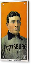 Honus Wagner Baseball Card 0838 Acrylic Print by Wingsdomain Art and Photography