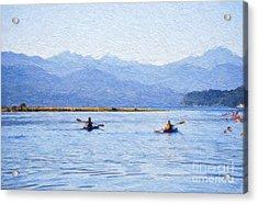 Hood Canal Kayaks Acrylic Print