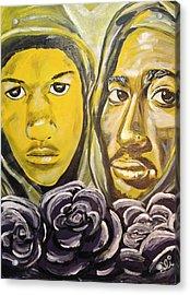 Hood Heaven Acrylic Print by Sean Ivy aka Afro Art Ivy