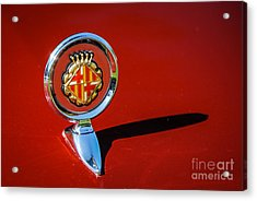 Hood Ornament On Matador Barcelona II Coupe Acrylic Print
