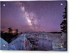 Hoodoos Under The Milky Way Acrylic Print