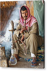Hookah Smoker Acrylic Print by Science Photo Library