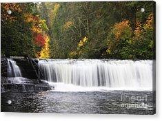 Hooker Falls In North Carolina Acrylic Print