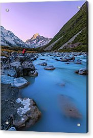 Hooker River, Mount Cook National Park Acrylic Print by By Arief Rasa