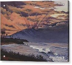 Hookipa Sunset Acrylic Print by Darice Machel McGuire