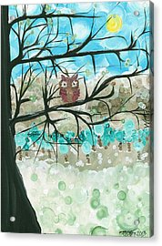 Hoolandia Seasons - Winter Acrylic Print