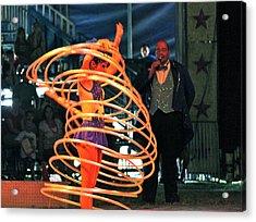 Hoop Master Acrylic Print by Amanda Just
