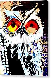 Hoot Digitized Acrylic Print