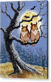 Hooty Whos There Acrylic Print by Richard De Wolfe