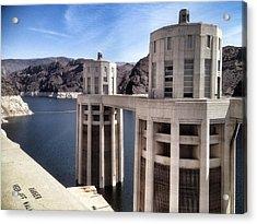 Hoover Dam Acrylic Print by Derek Conley