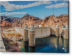 Hoover Dam Reservoir Acrylic Print