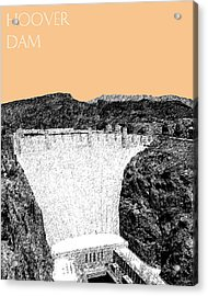 Hoover Dam - Wheat Acrylic Print by DB Artist