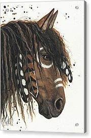 Hopa Majestic Mustang Series 47 Acrylic Print by AmyLyn Bihrle