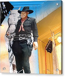 Hopalong Cassidy Cardboard Cut-out Tombstone Arizona 2004 Acrylic Print