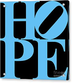 Hope 20130710 Blue Black Acrylic Print by Wingsdomain Art and Photography