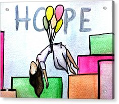 Hope Afloat  Acrylic Print by Kiara Reynolds