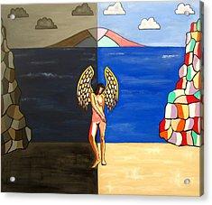 Hope And Despair Acrylic Print by Sandra Marie Adams