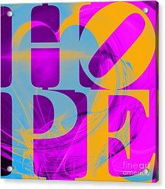 Hope Fractal Heart 20130710 V1 Acrylic Print by Wingsdomain Art and Photography