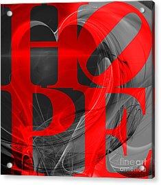 Hope Fractal Heart 20130710 V1b Acrylic Print by Wingsdomain Art and Photography