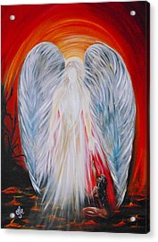 Hope In Hell - Michael Archangel Series Acrylic Print