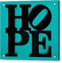 Hope In Light Blue Acrylic Print