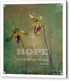 Hope Is Acrylic Print by Sally Simon