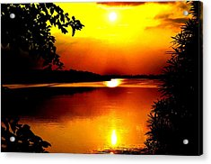 Hope Is Still There Sunset Acrylic Print by Deepti Chahar
