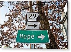 Hope Acrylic Print by Scott Pellegrin