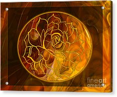 Acrylic Print featuring the digital art Hope Springs Eternal Abstract Healing Art by Omaste Witkowski