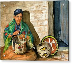 Hopi Basket Weaver Acrylic Print by Marilyn Smith