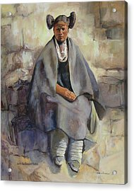 Hopi Girl Seated Acrylic Print