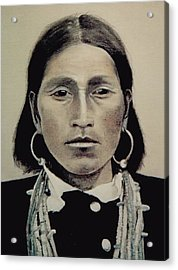 Hopi Woman Of The First Light Acrylic Print by Terri Ana Stokes
