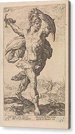 Horatius Codes, Anonymous, Hendrick Goltzius Acrylic Print