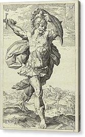 Horatius Codes, Keijzer, Hendrick Goltzius Acrylic Print