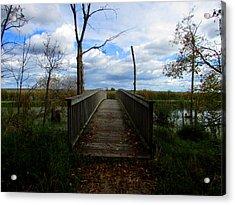 Acrylic Print featuring the photograph Horicon Bridge In Autumn by Kimberly Mackowski