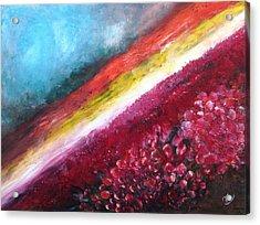 Horizon Flowers Acrylic Print