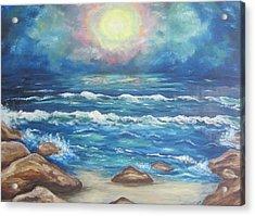 Acrylic Print featuring the painting Horizons 2 by Cheryl Pettigrew