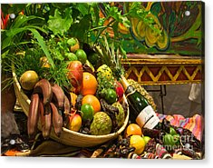 Acrylic Print featuring the photograph Fruit And Wine 1 by Mae Wertz