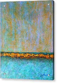 Acrylic Print featuring the painting Horizontal Reef by Jim Whalen